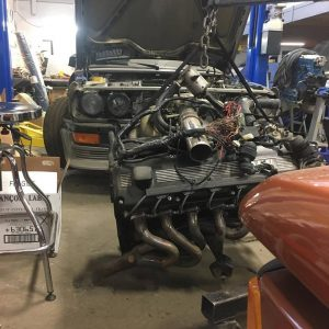 BMW E28 535i engine removal for supercharger installation