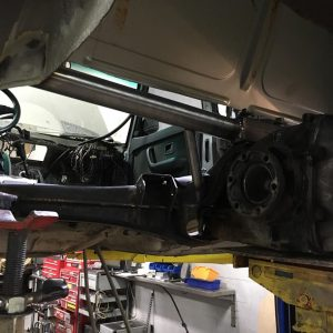 BMW E28 535i at Total Motor Werkes with rear end reinforcement