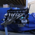 BMW E30 Convertible M20 Stroker Project engine and headers