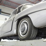 1961 Mercedes 190SL side and wheels