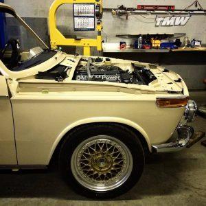 Total Motor Werkes S14-Swapped BMW 2002 Engine Bay