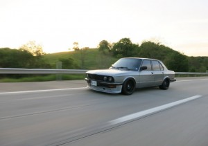 Rolling shot of a BMW E28 535i