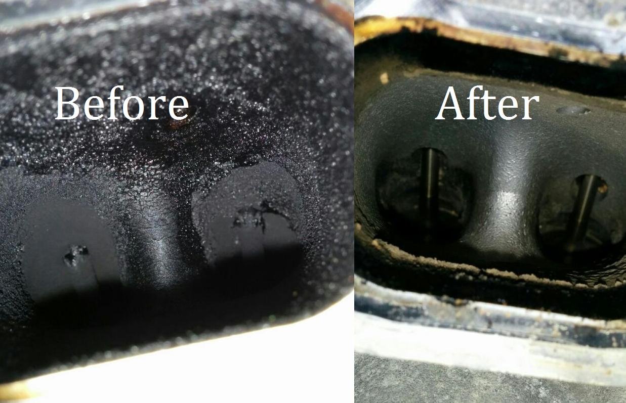 Before & After of a BMW N54 Walnut Blast