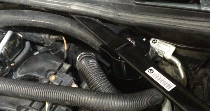 Installed Burger Motorsports N54 Catch Can