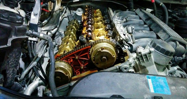 Removing Camshaft Bearing Ledges from a BMW N52 engine due to grooving