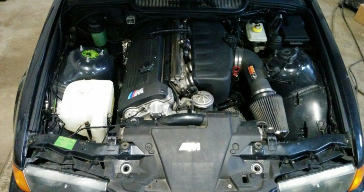 Completed E36 M3 Engine Bay with S54 Swapped In