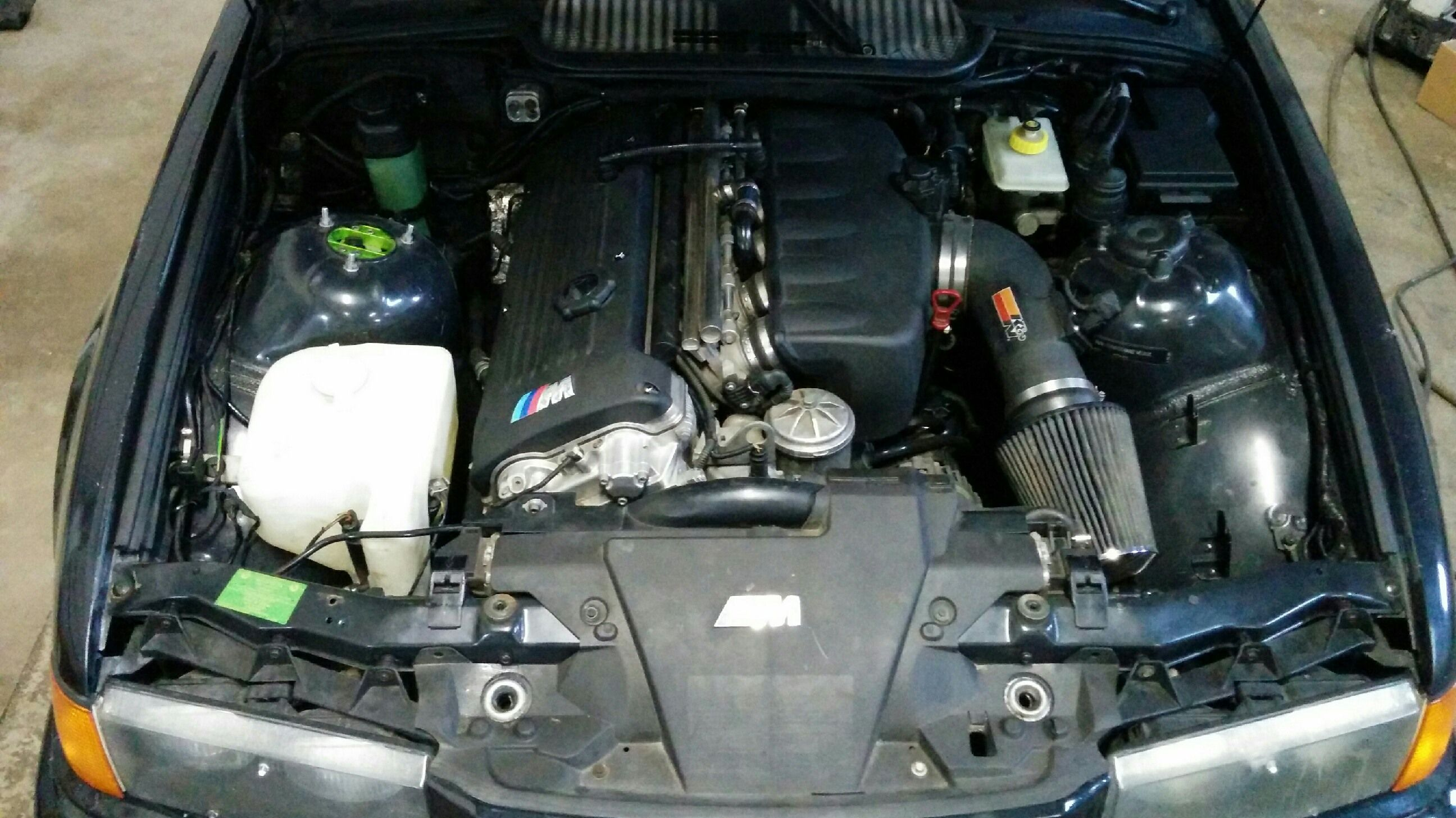 cam engine bay s54 swapped e36 m3 total motor werkes