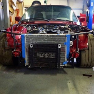 Building a tube frame front end for a Supercharged S52 in an E30