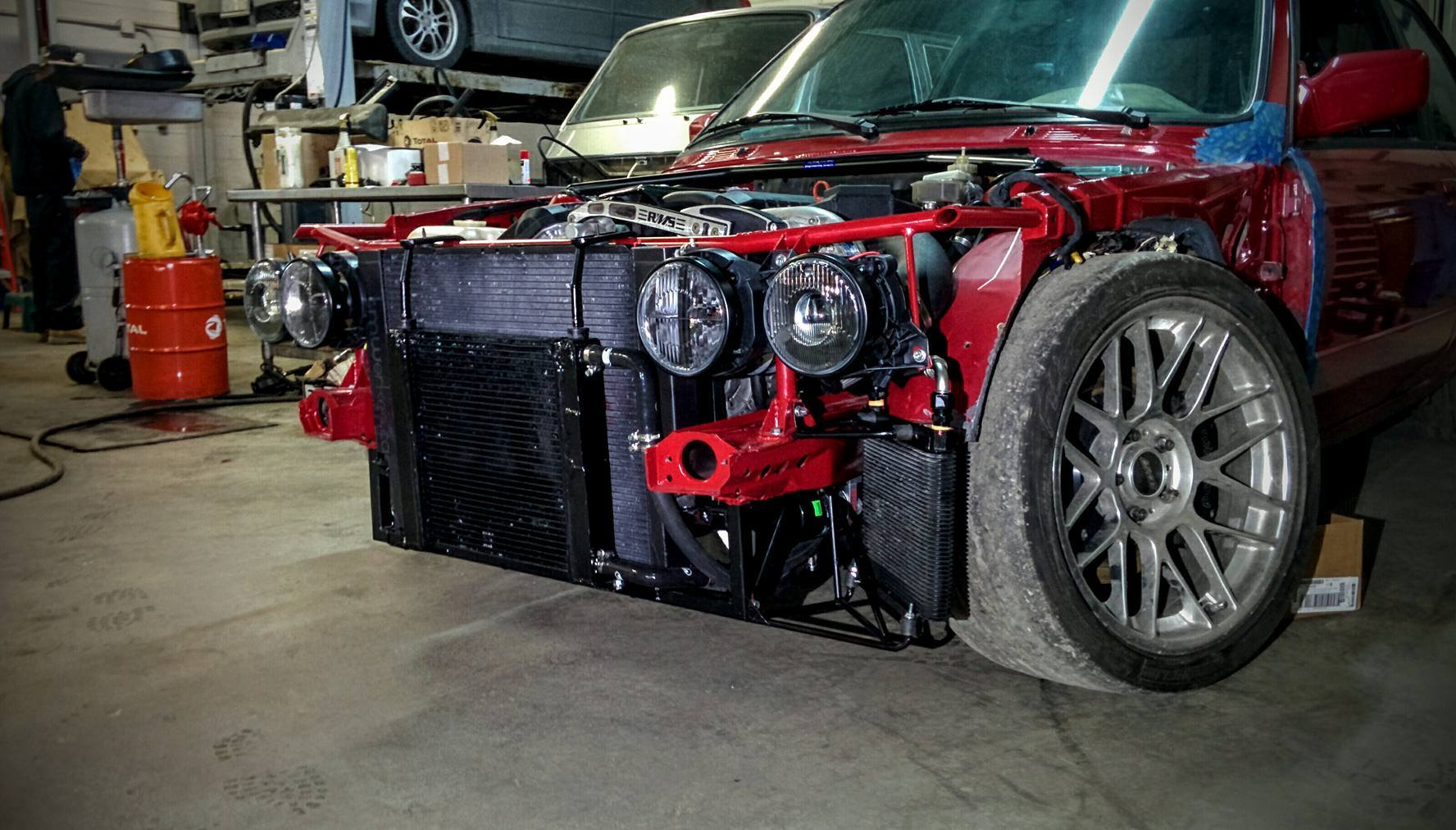 Bmw E30 With Vortech Supercharger On An S52 Engine Total