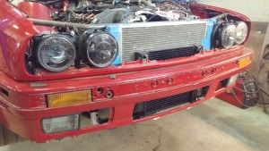 BMW E30 325i Custom Fabricated Headlight Bracket