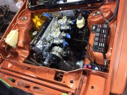 BMW M10 Engine Installed with Weber Carbs