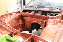 BMW E21 79 320i Engine Bay After Painting